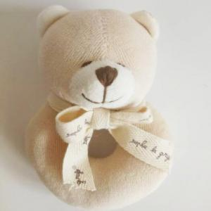 Organic bear ring toy