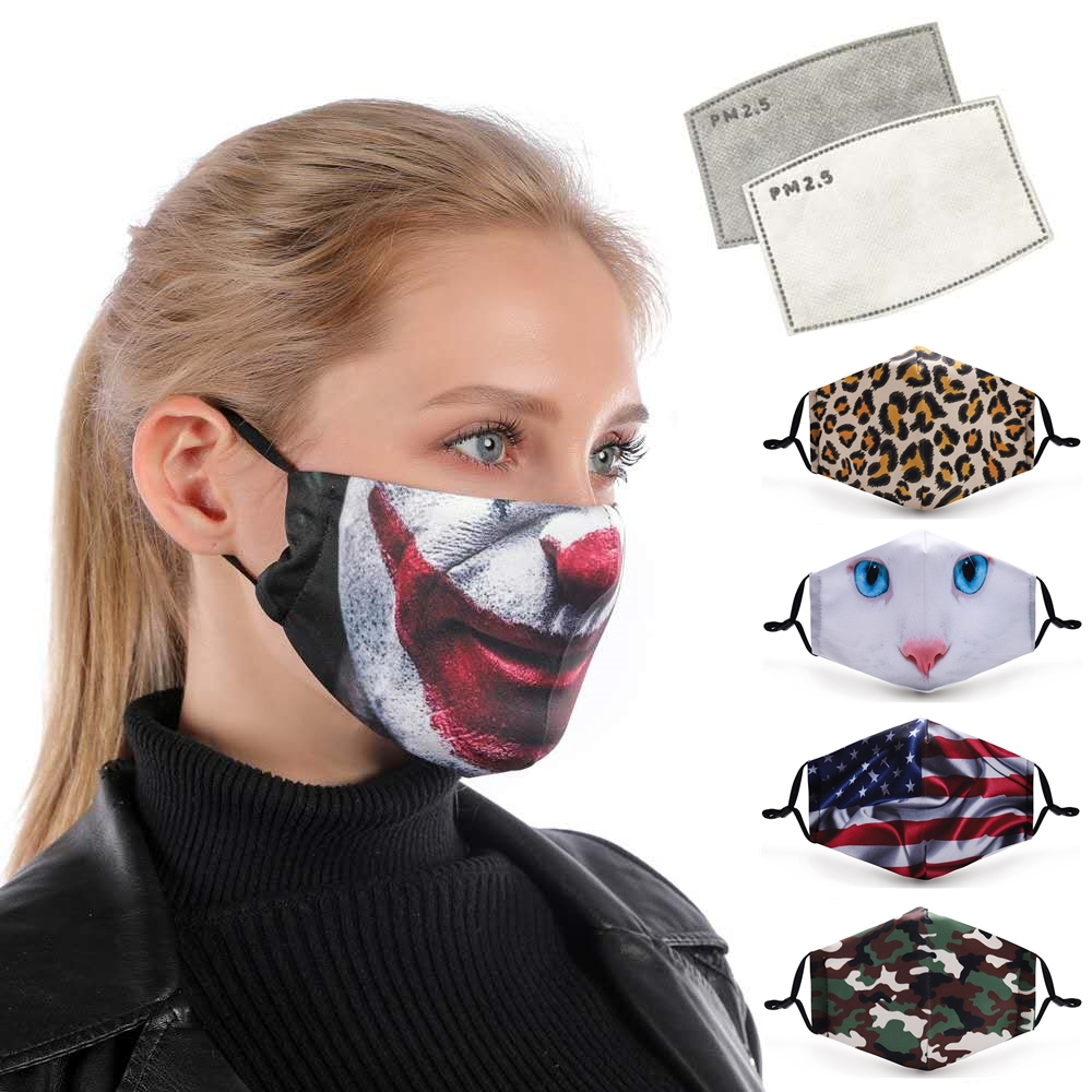 Wholesale Anti Cold black cotton washable dust face mask OEM mouth muffle