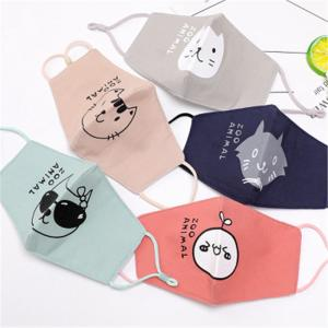 Reusable Dust Kids Cute Cartoon Cotton Winter Earloop Mouth Mask